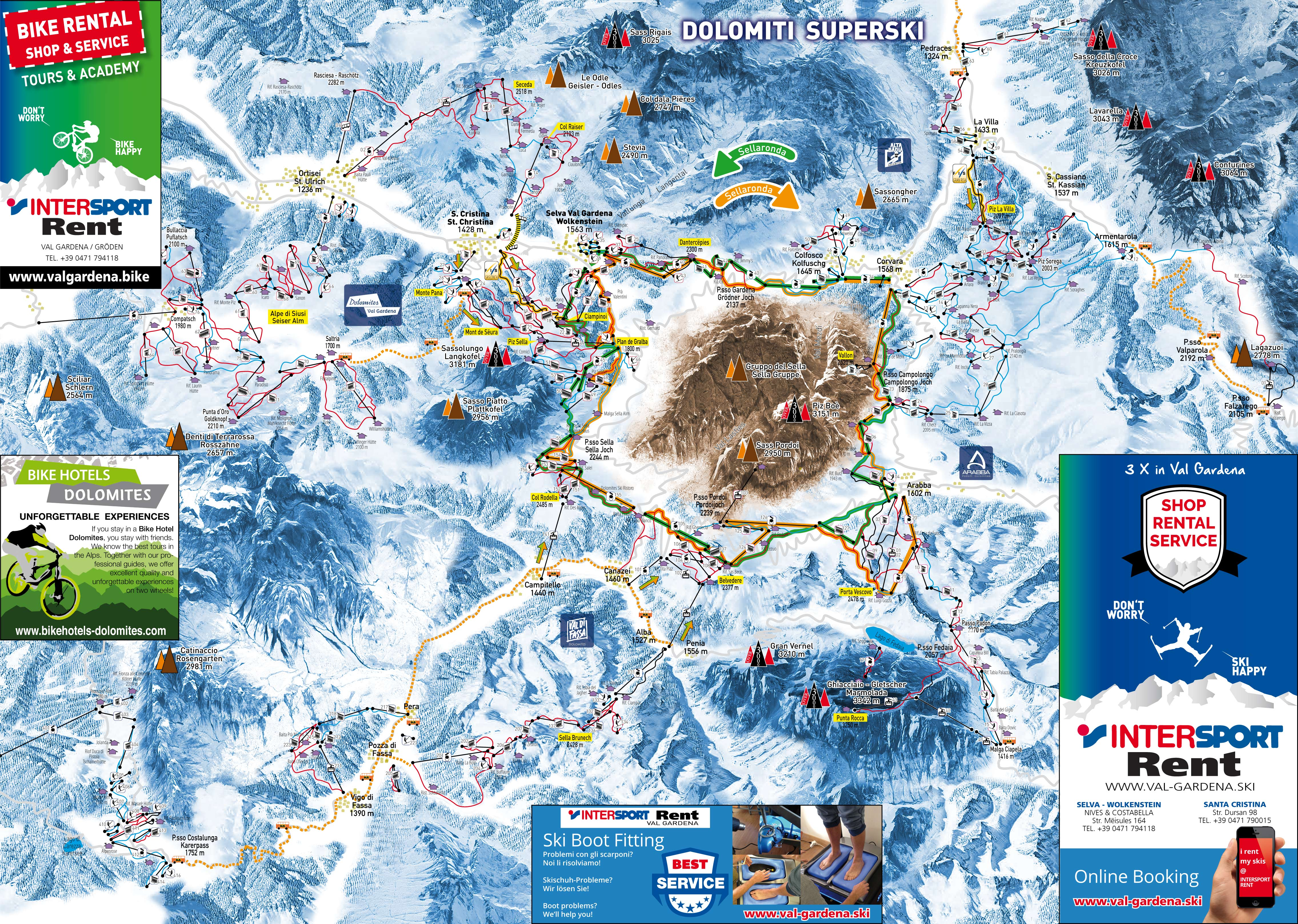 Ski rental free ski storage delivery service Ski school Ski map